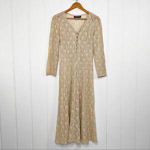 All That Jazz Vintage Boho Lace Cream Dress